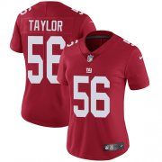 Wholesale Cheap Nike Giants #56 Lawrence Taylor Red Alternate Women's Stitched NFL Vapor Untouchable Limited Jersey