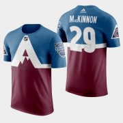 Wholesale Cheap Adidas Colorado Avalanche #29 Nathan Mackinnon Men's Burgundy 2020 Stadium Series T-Shirt