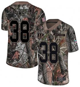 Wholesale Cheap Nike Bengals #38 LeShaun Sims Camo Youth Stitched NFL Limited Rush Realtree Jersey