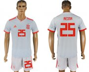 Wholesale Cheap Spain #25 Reina Away Soccer Country Jersey