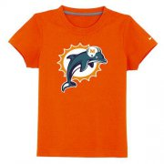 Wholesale Cheap Miami Dolphins Sideline Legend Authentic Logo Youth T-Shirt Orange