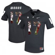 Wholesale Cheap Washington State Cougars 17 Kassidy Woods Black Fashion College Football Jersey