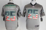 Wholesale Cheap Nike Seahawks #25 Richard Sherman Grey Men's Stitched NFL Elite USA Flag Fashion Jersey