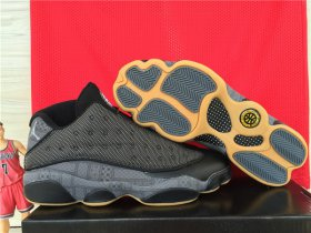 Wholesale Cheap Air Jordan 13 QUAI 54 Low Shoes Black/Khaki