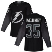 Cheap Adidas Lightning #35 Curtis McElhinney Black Alternate Authentic Youth Stitched NHL Jersey