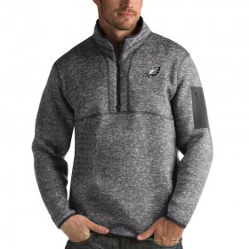 Wholesale Cheap Carolina Hurricanes Antigua Fortune Quarter-Zip Pullover Jacket Charcoal
