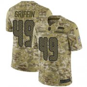 Wholesale Cheap Nike Seahawks #49 Shaquem Griffin Camo Youth Stitched NFL Limited 2018 Salute to Service Jersey