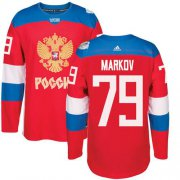 Wholesale Cheap Team Russia #79 Andrei Markov Red 2016 World Cup Stitched NHL Jersey