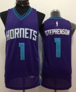 Wholesale Cheap Charlotte Hornets #1 Lance Stephenson Purple Swingman Jersey