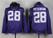 Wholesale Cheap Minnesota Vikings #28 Adrian Peterson Purple Pullover Hoodie