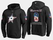 Wholesale Cheap Stars #8 Bill Goldsworthy NHL Banner Wave Usa Flag Black Hoodie