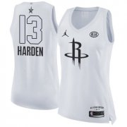 Wholesale Cheap Nike Houston Rockets #13 James Harden White Women's NBA Jordan Swingman 2018 All-Star Game Jersey