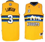 Wholesale Cheap Denver Nuggets #3 Ty Lawson Revolution 30 Swingman Yellow Jersey