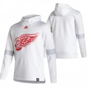 Wholesale Cheap Detroit Red Wings Blank Adidas Reverse Retro Pullover Hoodie White