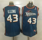 Wholesale Cheap Men's Detroit Pistons #43 Grant Long Teal Blue Hardwood Classics Soul Swingman Throwback Jersey