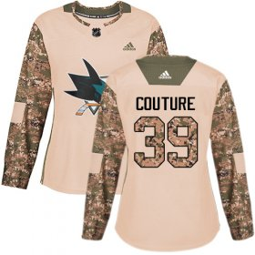 Wholesale Cheap Adidas Sharks #39 Logan Couture Camo Authentic 2017 Veterans Day Women\'s Stitched NHL Jersey