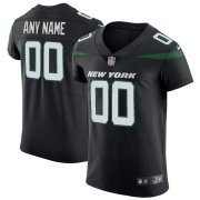 Wholesale Cheap Nike New York Jets Customized Stealth Black Stitched Vapor Untouchable Elite Men's NFL Jersey
