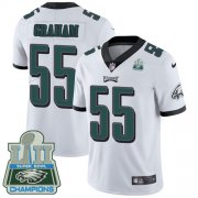 Wholesale Cheap Nike Eagles #55 Brandon Graham White Super Bowl LII Champions Youth Stitched NFL Vapor Untouchable Limited Jersey