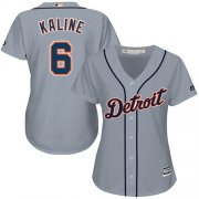 Wholesale Cheap Tigers #6 Al Kaline Grey Road Women's Stitched MLB Jersey