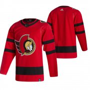 Wholesale Cheap Ottawa Senators Blank Red Men's Adidas 2020-21 Reverse Retro Alternate NHL Jersey