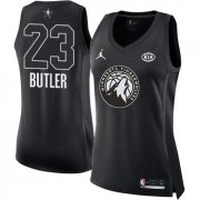 Wholesale Cheap Nike Minnesota Timberwolves #23 Jimmy Butler Black Women's NBA Jordan Swingman 2018 All-Star Game Jersey