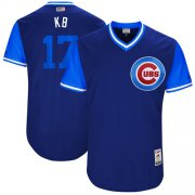 "Wholesale Cheap Cubs #17 Kris Bryant Royal ""KB"" Players Weekend Authentic Stitched MLB Jersey"
