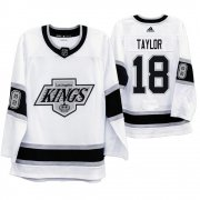 Wholesale Cheap Los Angeles Kings #18 Dave Taylor Men's Adidas 2019-20 Heritage White Throwback 90s NHL Jersey