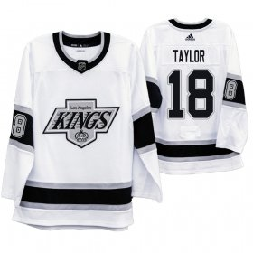 Wholesale Cheap Los Angeles Kings #18 Dave Taylor Men\'s Adidas 2019-20 Heritage White Throwback 90s NHL Jersey