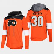 Wholesale Cheap Flyers #30 Michal Neuvirth Orange 2018 Pullover Platinum Hoodie