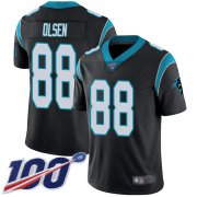 Wholesale Cheap Nike Panthers #88 Greg Olsen Black Team Color Men's Stitched NFL 100th Season Vapor Limited Jersey