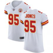 Wholesale Cheap Nike Chiefs #95 Chris Jones White Men's Stitched NFL Vapor Untouchable Elite Jersey