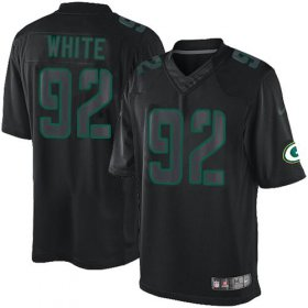 Wholesale Cheap Nike Packers #92 Reggie White Black Men\'s Stitched NFL Impact Limited Jersey
