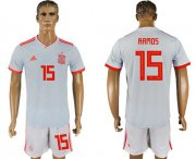 Wholesale Cheap Spain #15 Ramos Away Soccer Country Jersey
