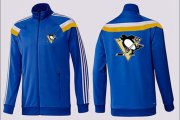 Wholesale Cheap NHL Pittsburgh Penguins Zip Jackets Blue-2