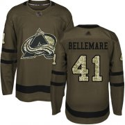 Wholesale Cheap Adidas Avalanche #41 Pierre-Edouard Bellemare Green Salute to Service Stitched NHL Jersey