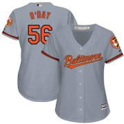 Wholesale Cheap Orioles #56 Darren O'Day Grey Road Women's Stitched MLB Jersey