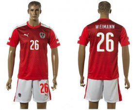 Wholesale Cheap Austria #26 Weimann Red Home Soccer Country Jersey