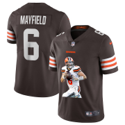 Wholesale Cheap Men's Cleveland Browns #6 Baker Mayfield Brown Brown Player Portrait Edition 2020 Vapor Untouchable Stitched NFL Nike Limited Jersey1