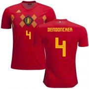 Wholesale Cheap Belgium #4 Dendoncker Red Soccer Country Jersey