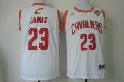 Wholesale Cheap Men's Cleveland Cavaliers #23 LeBron James 2016 The NBA Finals Patch White Swingman Jersey
