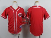 Wholesale Cheap Reds Blank Red Cool Base Stitched Youth MLB Jersey