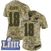 Wholesale Cheap Nike Rams #18 Cooper Kupp Camo Super Bowl LIII Bound Women's Stitched NFL Limited 2018 Salute to Service Jersey