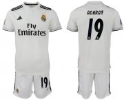 Wholesale Cheap Real Madrid #19 Achraf White Home Soccer Club Jersey