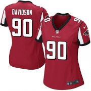 Wholesale Cheap Nike Falcons #90 Marlon Davidson Red Team Color Women's Stitched NFL New Elite Jersey