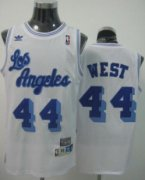 Wholesale Cheap Los Angeles Lakers #44 Jerry West White Swingman Throwback Jersey