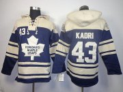 Wholesale Cheap Maple Leafs #43 Nazem Kadri Blue Sawyer Hooded Sweatshirt Stitched NHL Jersey