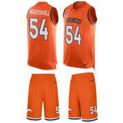 Wholesale Cheap Nike Broncos #54 Brandon Marshall Orange Team Color Men's Stitched NFL Limited Tank Top Suit Jersey