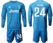 Wholesale Cheap Juventus #24 Rugani Third Long Sleeves Soccer Club Jersey