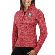 Wholesale Cheap New York Islanders Antigua Women's Fortune 1/2-Zip Pullover Sweater Red