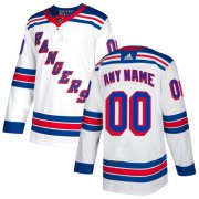 Wholesale Cheap Men's Adidas Rangers Personalized Authentic White Road NHL Jersey